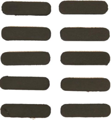 GUNTEC RUBBER INSERT COVERS 10PK M-LOK BLACK - for sale